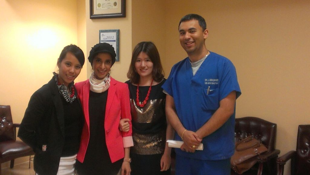 Dr. Abdul with interns