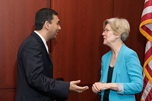 Dr. Abe with Elizabeth Warren