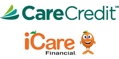 iCare and CareCredit logos