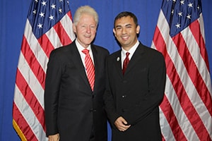 Dr. Abe with President Bill Clinton