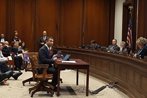 Dr Abe at Massachusetts Health Committee Meeting