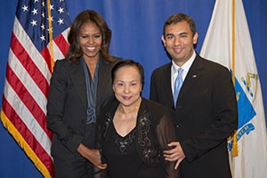 Dr. Abe with Michelle Obama