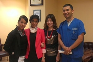 Lux Dental staff at an international intern meeting
