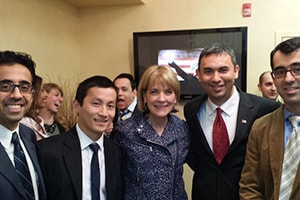 Lux Dental team with Martha Coakley